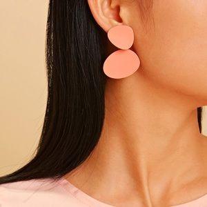 Pink Double Drop Earrings